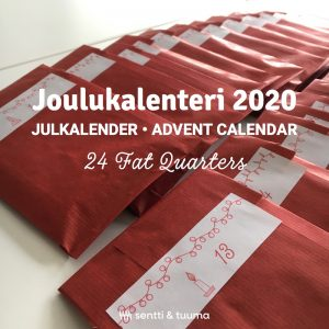 24 paper bags of fat quarte advent calendar 2020